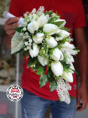 Artificial bride bouquet