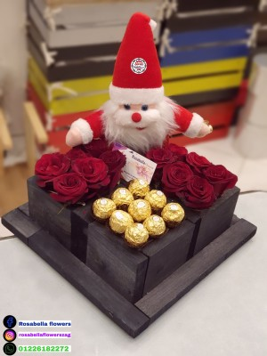 Box roses and gift